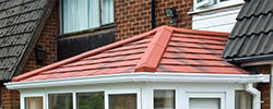 A solid tiled conservatory roof