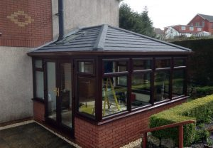 Brown warm roof extension