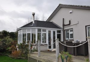 Converted conservatory solid tile roof