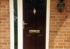 Dark brown composite door