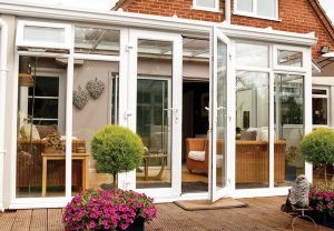 French doors in white