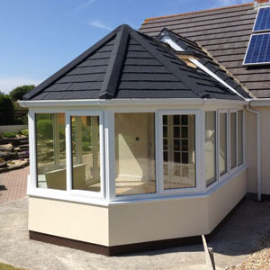 Solid tiled conservatories in Wales