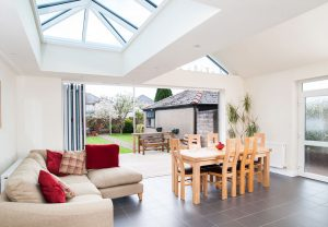 Lantern roof glazed extension