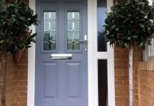 Traditional style composite entrance door