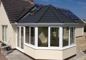 Warm roof conservatory installation