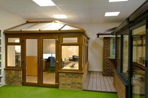 Oak Conservatory and Grey Conservatory