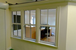 Sliding Sash Windows in our Showroom