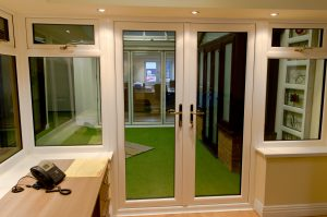 French Doors in Oak Conservatory