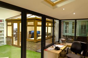 Grey and Oak Conservatories