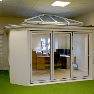 Double glazing showroom