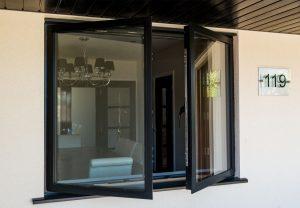 Aluminium French windows