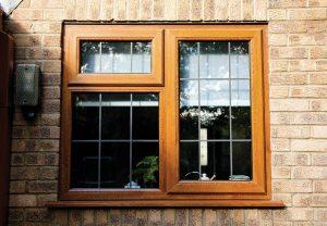 Oak effect casement windows