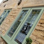Chartwell Green Casement Windows with Leaded Bars