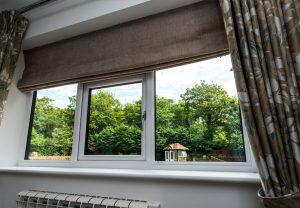Installed white casement windows
