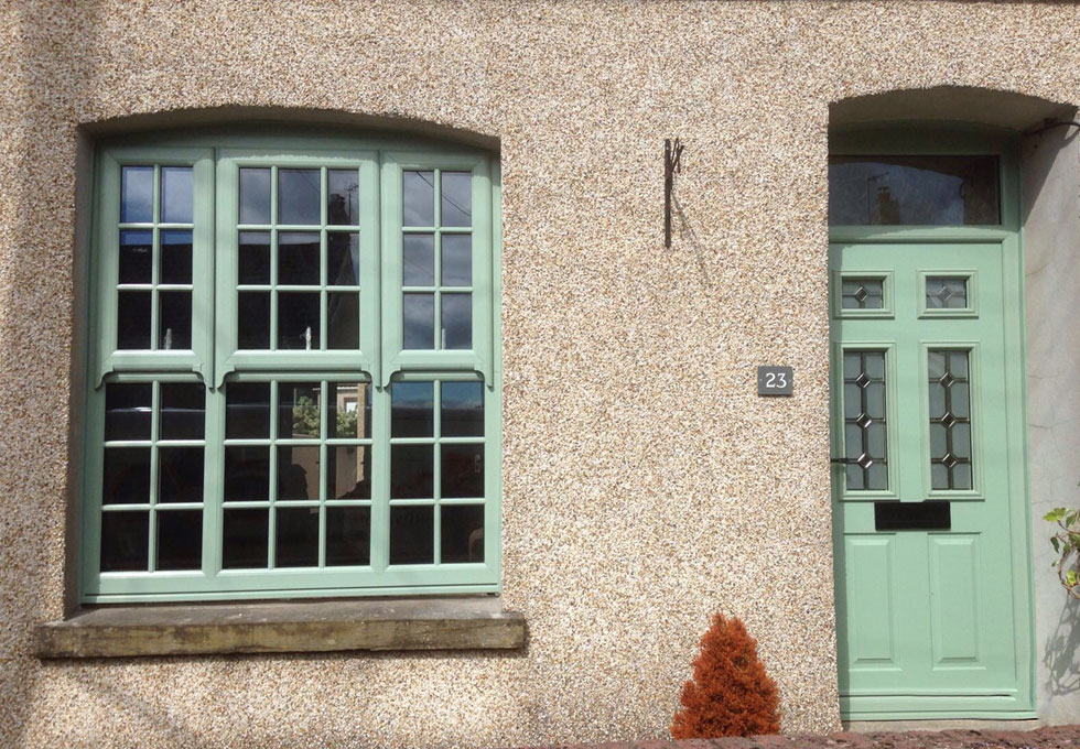 Coloured uPVC sash windows Port Talbot