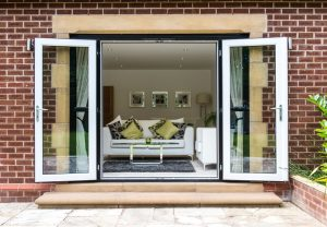 Open uPVC French doors