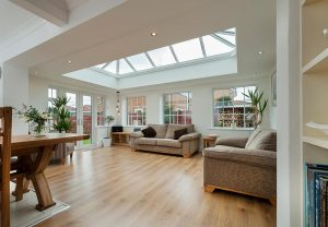 Lantern roof for brightening up an orangery
