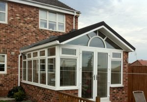 Gable solid tiled conservatory roof